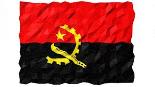 Flag of Angola 3D Wallpaper Animation by #Hebstreit   #3d #4K #abstract #Angola #Animation #background #banner #computer