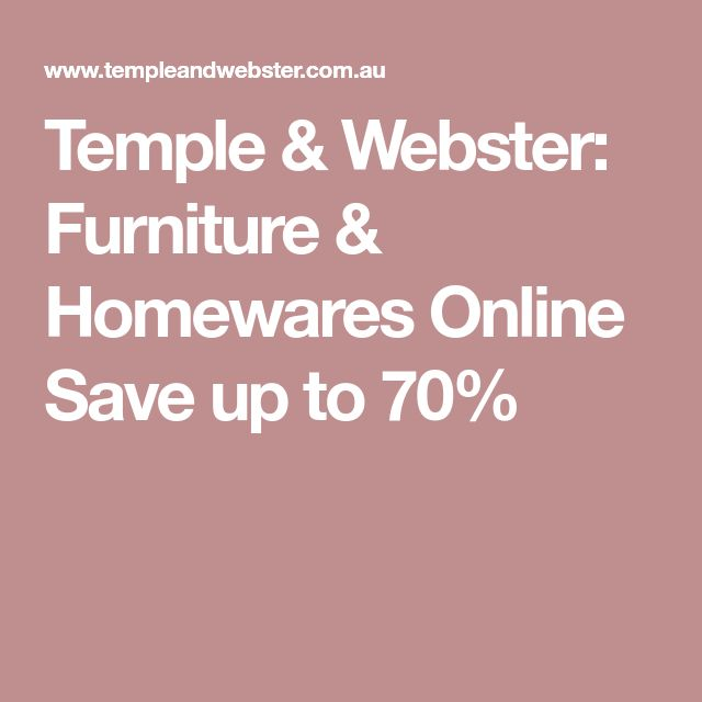 Temple & Webster: Furniture & Homewares Online Save up to 70%