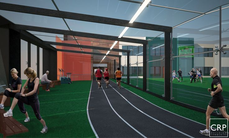 Crp Architects Pc Multipurpose Hall Gym Design Warehouse Gym