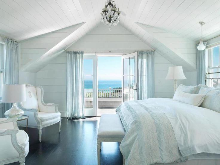 Coastal Master Suite. #laylagrayce #beach #bedroom beach house - summer home - bedroom - sea - ocean - views