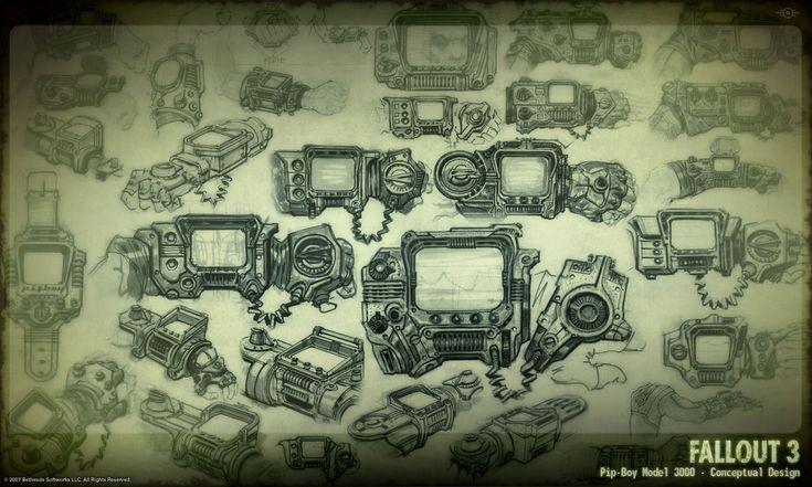 Pip-Boy 3000 concept art