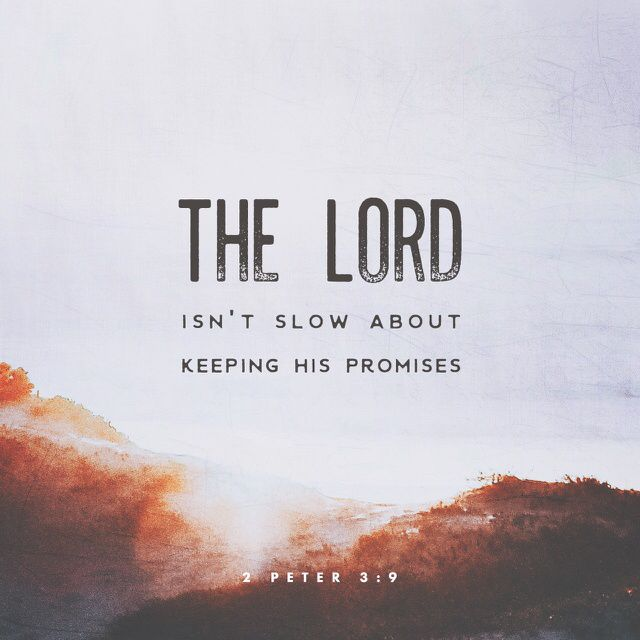 9 The Lord isn't slow about keeping his promises, as some people think he is. In fact, God is patient, because he wants everyone to turn from sin and no one to be lost. (2 Peter 3:9 CEVUS06)