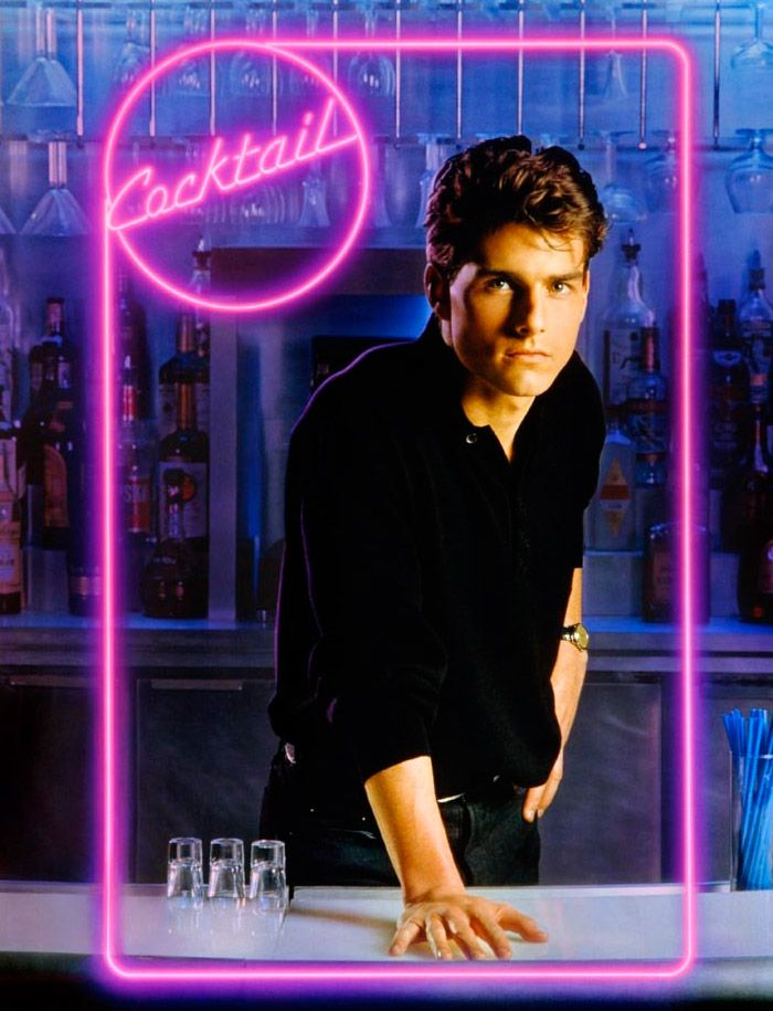 Sometimes, movies just need to be on this list, because they take you far, far back in time, when everything still seemed possible ;-) It's a classic :-D ...Cocktail, Tom Cruise