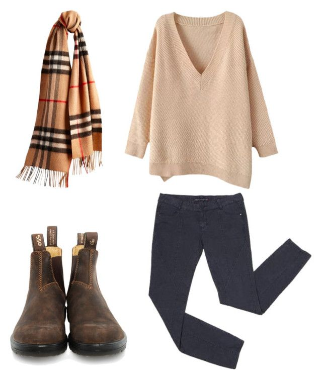 """REQUESTED: WHAT TO WEAR WITH BROWN BLUNDSTONES/THANKSGIVING OUTFIT"" by ems-wardrobe ❤ liked on Polyvore featuring Burberry, Blundstone, women's clothing, women's fashion, women, female, woman, misses, juniors and thanksgiving"