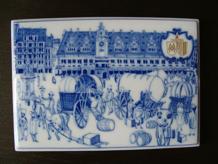 Rare Plakette Meissen Andenken Jubiläum 800 Jahren Messe Leipzig limitiert 1965