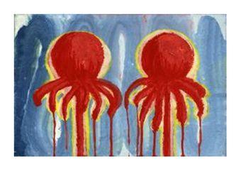Tanja Smit Untitled , 2006 pulpos egg tempera on paper 15 x 23 cm
