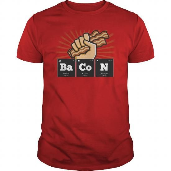 Awesome Tee Periodic Elements Bacon T shirts