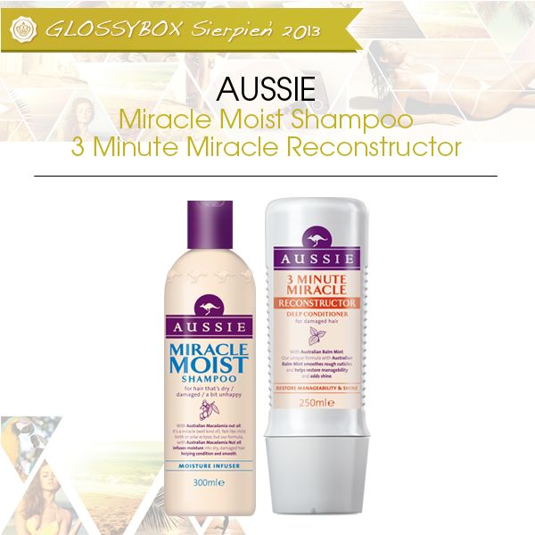 AUSSIE - Miracle Moist Shampoo i 3 Minute Miracle Reconstructor