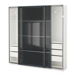 IKEA - PAX, Garderobeskap, -, 200x44x201 cm, , 10 års garanti. Les om vilkårene i garantiheftet.I PAX-planleggeren kan du enkelt tilpasse denne ferdige PAX/KOMPLEMENT-kombinasjonen etter behov og smak.Den grunne stamme er perfekt der plassen er begrenset.Med skyvedører har du plass til flere møbler, fordi de ikke tar opp ekstra plass når de åpnes.Hvis du vil organisere innsiden, kan du supplere med innredning fra KOMPLEMENT-serien.Justerbare føtter gjør det mulig å kompensere for eventuelle…