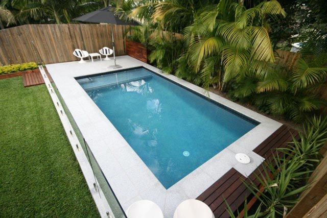 small pool design for a corner - Formal Pool Designs - Pool Construction Brisbane | Queensland Family Pools