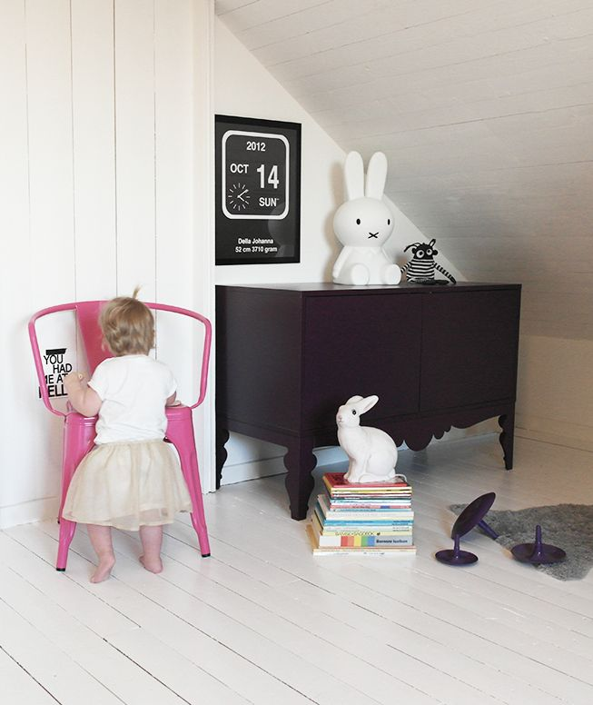 Miniwilla. Scandinavian kids room. Miffy lamp. White floorboards.