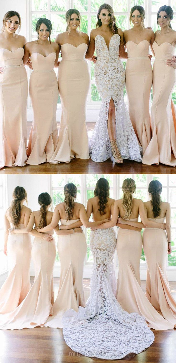 25 cute mermaid bridesmaid dresses ideas on pinterest mermaid mermaid bridesmaid dresses long sweetheart bridesmaid dress 2018 modest wedding party dresses pink ombrellifo Images