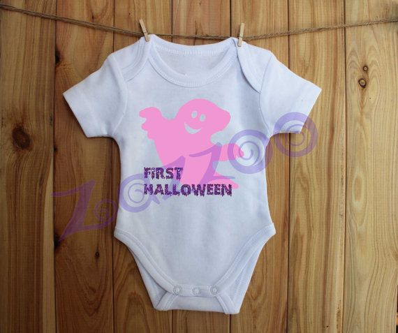 First Halloween Onesie Bodysuit with Ghost by Zazzoo by Zazzoo