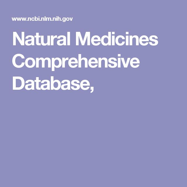 Natural Medicines Comprehensive Database,