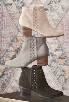 Studded suede ankle booties | Sole Society Gala