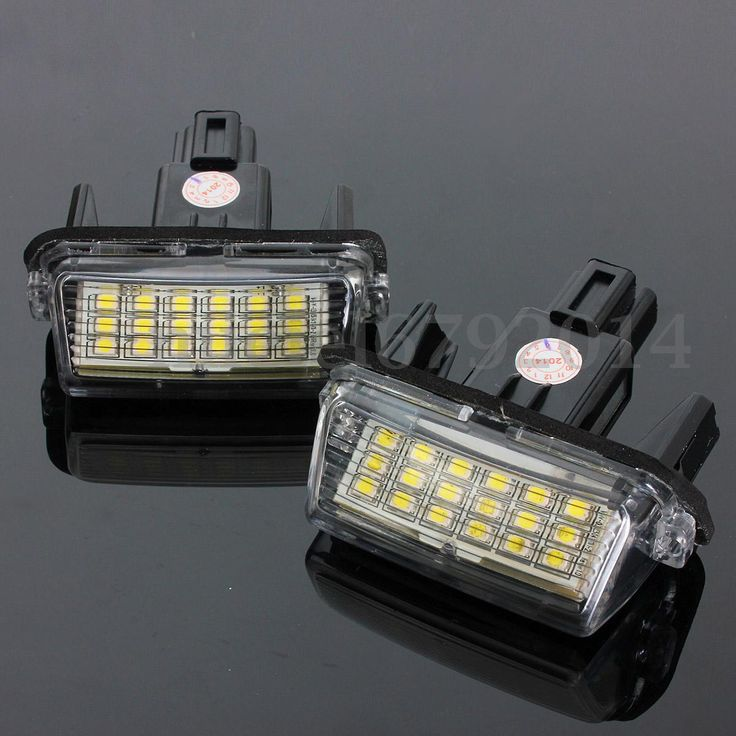 Cool Awesome 2x LED License Number Plate Light For Toyota Camry Yaris Prius Corolla Fielder  2018 Check more at http://24auto.tk/toyota/awesome-2x-led-license-number-plate-light-for-toyota-camry-yaris-prius-corolla-fielder-2018/