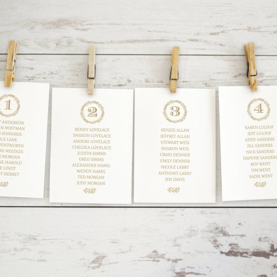 Best Wedding Place Cards  Seating Charts Images On