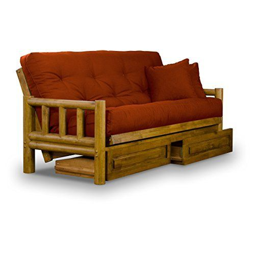 "• Solid hardwood constructed futon frame • Accommodates queen size futon mattresses (60"" x 80"") • Three positions – sofa, lounger, and bed • Sofa height seating • Heritage finish applied by expert artisans • Eco-friendly futon frame uses only hardwoods from sustainable plantations... more details available at https://furniture.bestselleroutlets.com/living-room-furniture/futons/futon-frames/product-review-for-rustic-tahoe-log-queen-size-wood-futon-f"