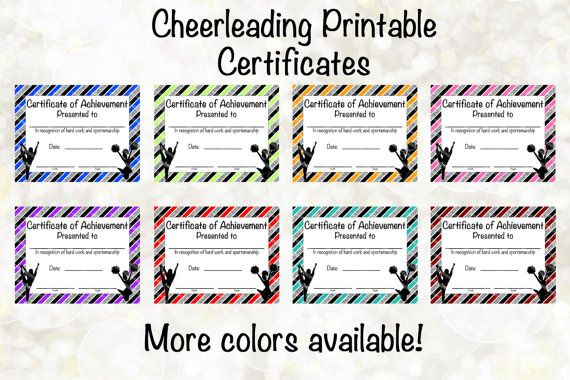 105 best cheerleading Team Spirit Awards and Favors images on - printable achievement certificates