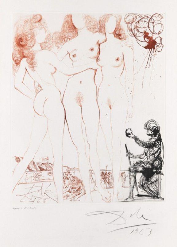 Salvador Dalì - Judgment of Paris, 1963 - - - A szürrealizmus pusztító, de tönkre csak azt teszi, amit láncnak tekint, ami korlátozza a látásunkat - Salvador Dalì