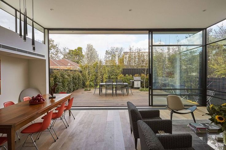 Australian living room with a fluid outdoor connection