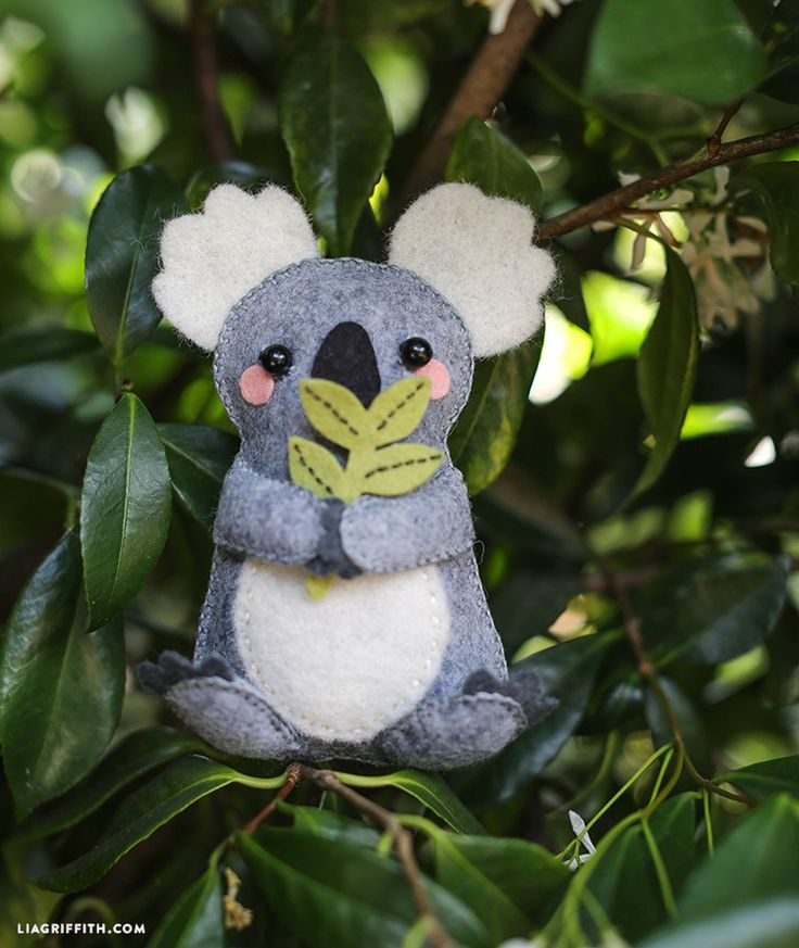 DIY Felt Stuffie Koala Bear