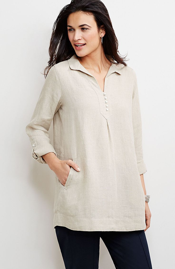 linen tab-sleeve tunic from J.Jill