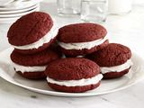 Picture of Red Velvet Whoopie Pies Recipe: Food Network, Food Colors, Pies Recipes, Red Velvet Cookies, Velvet Whoopie, Gluten Free, Whoopie Pies, Glutenfree, Free Red