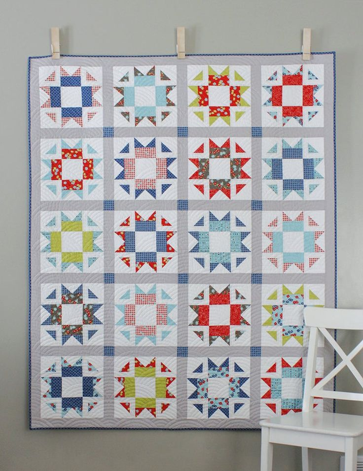 Skipper quilt pattern (PDF) Crib, Throw, Twin and Queen