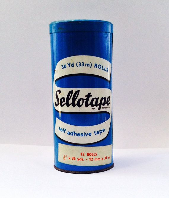 Old store keepers Sellotape tin £8.35