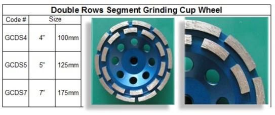 Double Rows Segment Grinding Cup Wheel made in Korea guarantees consistent high quality. http://www.gobizkorea.com/blog/ProductView.do?blogId=stonetools&id=1037628 Following is our online catalog supported by Korea government;  http://stonetools.gobizkorea.com email: sales@stonetools.co.kr  https://www.facebook.com/StonePolishingPads http://www.linkedin.com/company/stonetools-korea http://www.stonetools.co.kr https://www.pinterest.com/stonetoolskorea