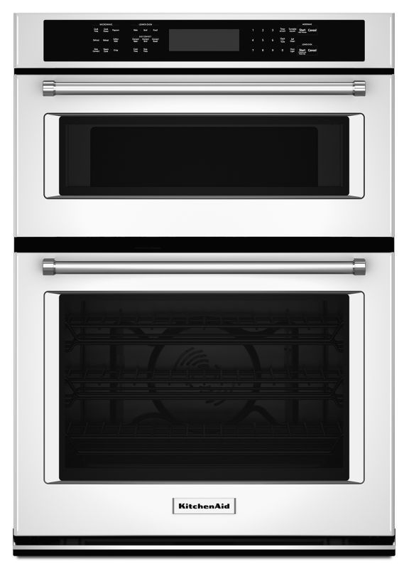 Kitchenaid Koce507e 27 Inch Wide 4 3 Cu Ft Combination Wall Oven With 1 4 Cu White Ovens Electric Single Wall Oven Wall Oven Microwave Convection Wall Oven