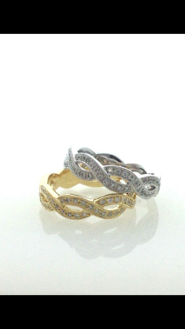 Gold and diamond braided band. www.abrahamsjewellery.com