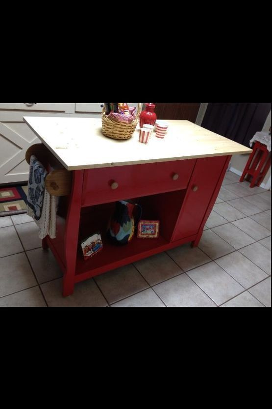 repurposed baby changing table to kitchen island, kitchen island