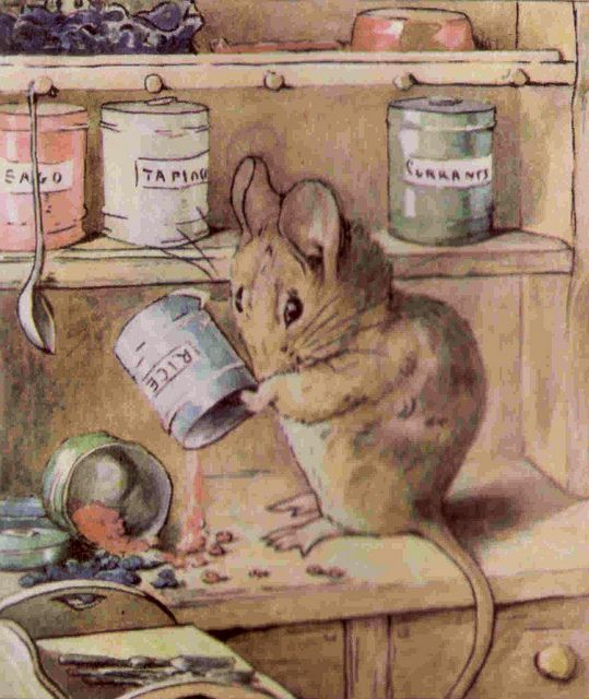 """The Tale of Two Bad Mice"" - written and illustrated by Beatrix Potter <> (children, kids, art, nursery rhymes, fairy tales, classic stories)"