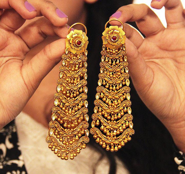 Indian Wedding Earrings by Azva at Talwar Jewellers