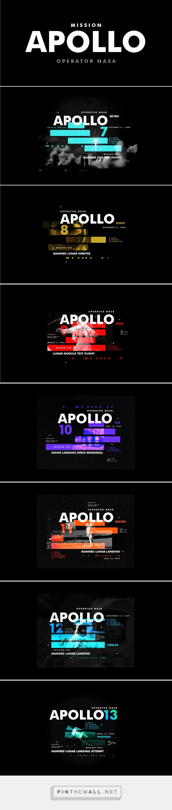 Mission Apollo on Behance - created via https://pinthemall.net