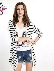 haoduoyi® Women's Black and White Stripe Loose Kn... – MXN $ 437.97