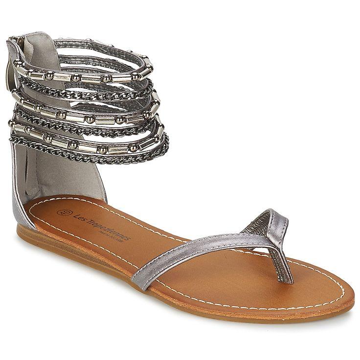 Sandale Les Tropéziennes par M Belarbi GENIAL Etain - Chaussure pas cher avec Shoes.fr ! - Chaussures Femme 44,99 €
