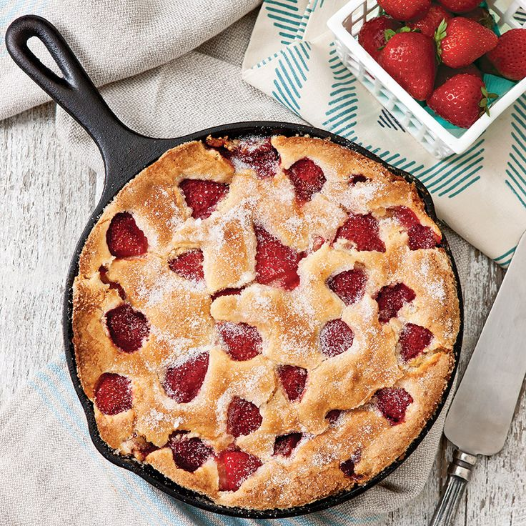 This simple and stunning skillet cake makes an easy weeknight dessert.