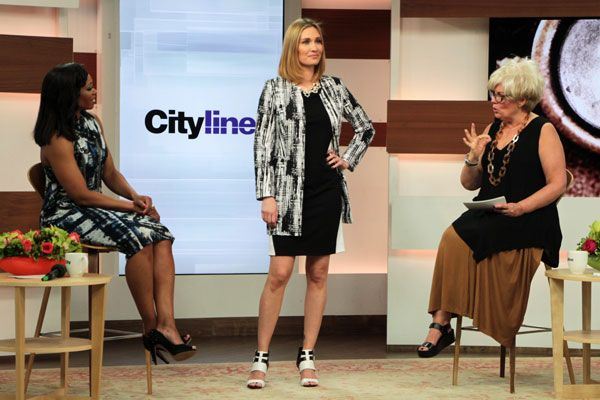 Look #4: Domino black/white colour block dress, $169 Domino abstract print jacket, $199 http://www.cityline.ca/…/cityline-lookbook-hot-spring-look…/ #Cityline #FashionFriday #SPANNER #Canadian #Fashion #LynnSpence #TracyMoore