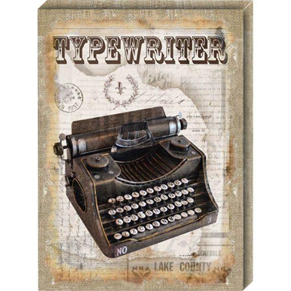ΠΙΝΑΚΑΣ «TYPEWRITER» 40,6Χ55,8Χ2,5ΕΚ ΚΩΔΙΚΟΣ:42052