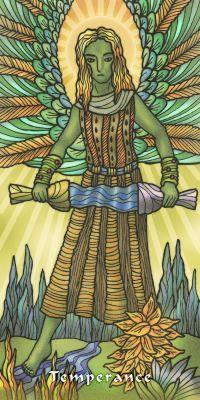 Tarot ng Daigdig sa Balintataw - Temperance - Lynyrd Jym Narcisco - Adam McLean 2011