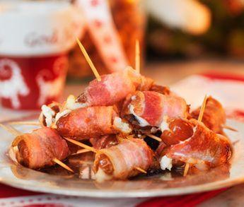 Bjud på en himmelsk smaksensation där salt möter sött på plockmatsbordet. Dina getostfyllda, smarriga dadlar lindar du in i salt, krispig bacon och gratinerar snabbt i ugn före de ska serveras. Snabblagat och saligt gott!