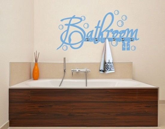 Best Spa  Bathroom Decals Images On Pinterest - Wall decals bathroom