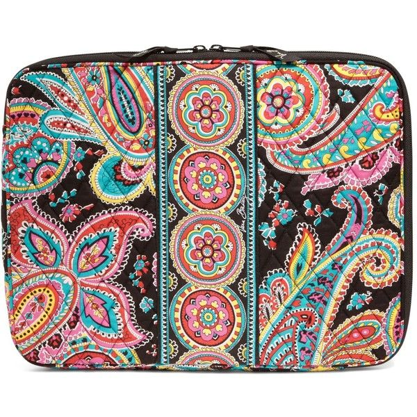 Vera Bradley Laptop Sleeve in Parisian Paisley ($38) ❤ liked on Polyvore