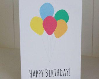 Tarjeta de cumpleaños globo