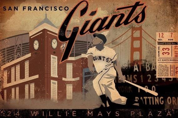 $95.00 SF Giants Baseball Club Collage