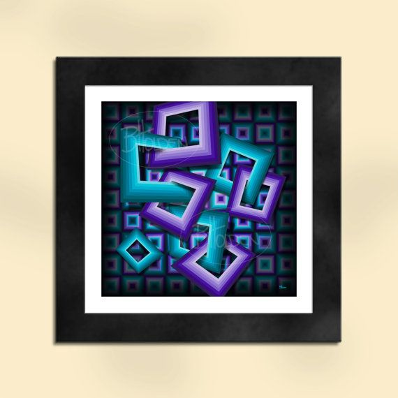 Sum of Squares Abstract Art Print by SapphireMoonArt on Etsy