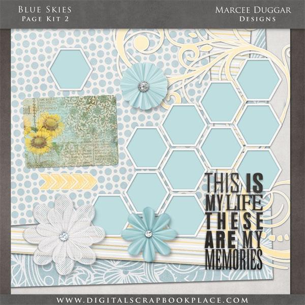 Blue Skies Page Kit 2  #Scrapbooking: Scrapbook Ideas, Nuw Pin, Club Projects, Scrapbook Inspiration, Blue Sky, Layout Scrapbook, Current Stamps, Scrapbook Layout, Pin Scrapbook